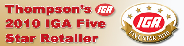 Thompson's IGA 5 Star Retailer